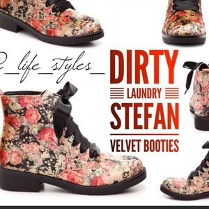 Dirty Laundry Stephan Boots sz 8 Floral #Box1
